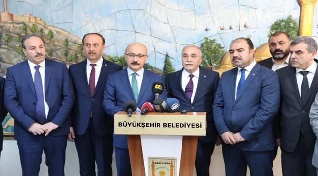 Bakanlar Büyükşehir Belediyesini Ziyaret Etti