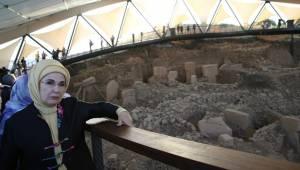 Emine Erdoğan Göbeklitepe'yi Ziyaret Etti