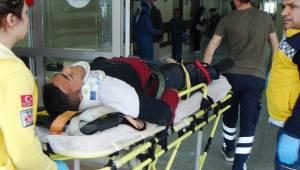 Haliliye'de Motosiklet Devrildi, 1 Yaralı