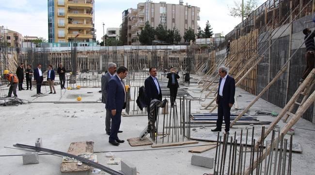 Haliliye'deki gençlik merkezinin inşaatı hızla yükseliyor