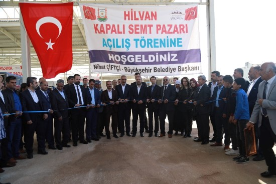 Hilvan'da semt pazarının açılışı gerçekleştirildi