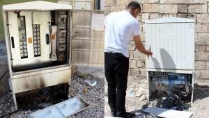 Kaçak Elektriği Önleyen Panolarına Saldırı