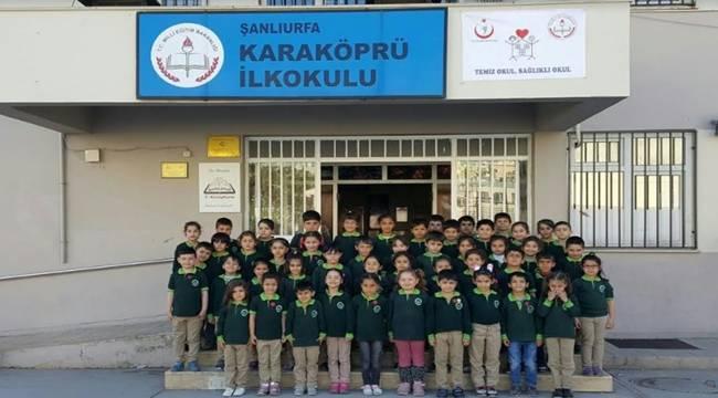 Karaköprü ilkokulundan Afrin'e yardım eli