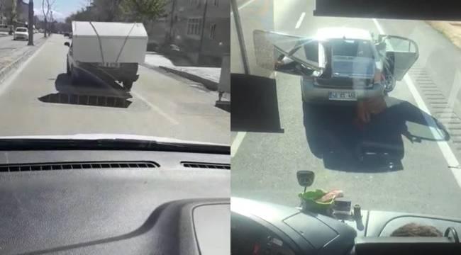 Tehlikeli Yük Taşıyan Araçlar Kamerada