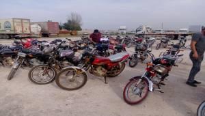 Viranşehir'de 48 Çalıntı Motosiklet Ele Geçirildi