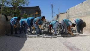 Yardımcı'ya 23 Bin Metre Kare Parke Taşı Döşendi