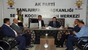 AK Parti Şanlıurfa İl Başkanı Yıldız'dan SKM'ye ziyaret