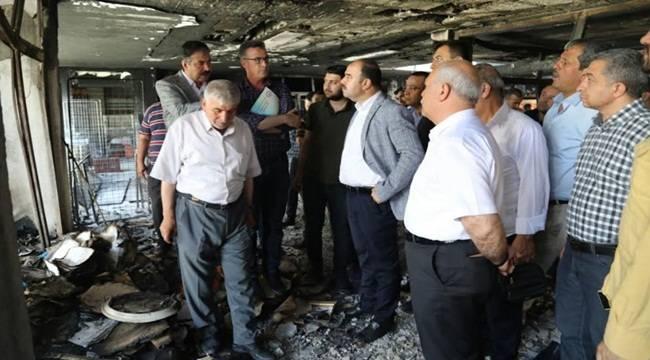 Başkan Çiftçi, Yangın Çıkan Avrupa Pasajını İnceledi