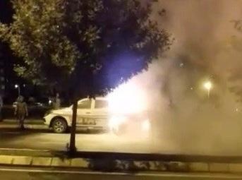 Belediyenin ilaçlama aracı yandı