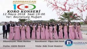 Harran Üniversitesi Azerbaycan'da Konser Verecek