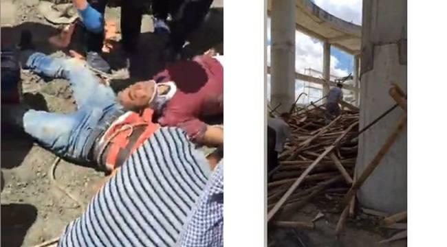 Şanlıurfa'da 11 Nisan Camisi Çöktü, 6 Yaralı-Video