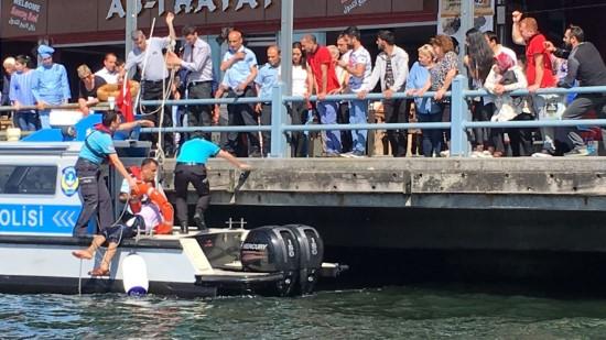 Şanlıurfalı vatandaş Galata Köprüsü'nden atladı