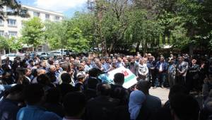 Siverek'te Amerika ve İsrail Protesto Edildi