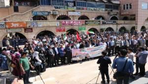Urfa'da Amerika ve İsrail Protesto Edildi