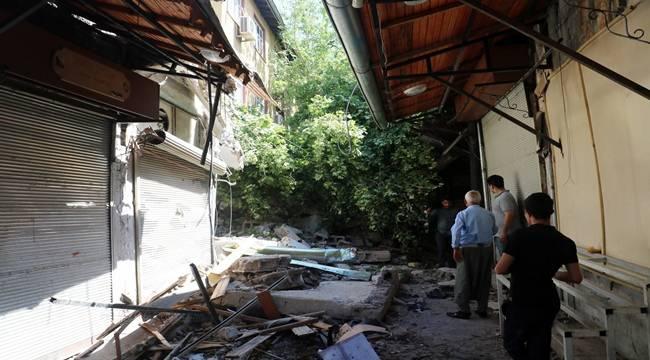 Urfa'daki Tarihi Hamam Çöktü