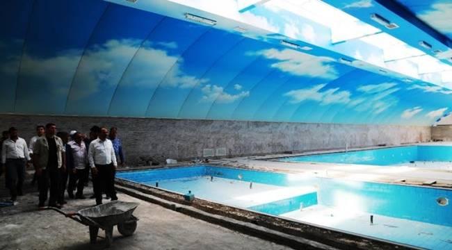 Yarı Olimpik İkiz Yüzme Havuzu Çalışmaları Sürüyor