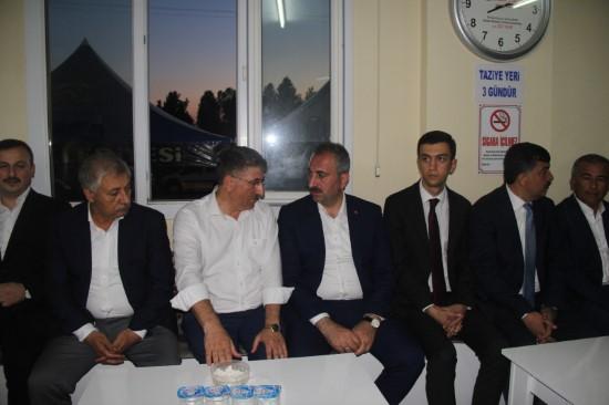 Adalet Bakanı Gül'den eski milletvekiline taziye ziyareti
