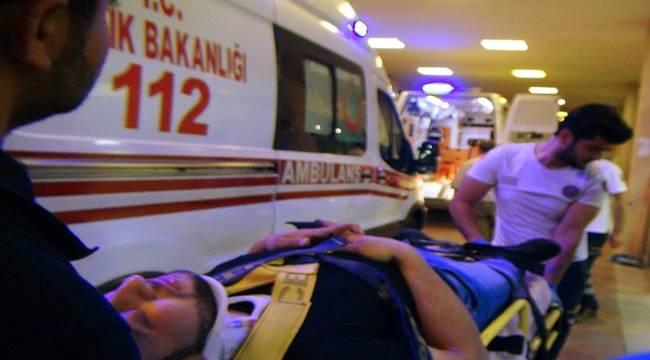 Otomobil Motosiklete Çarptı, 2 yaralı