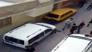 Polisin Tüfekle Vurularak Yaralandığı Kavga Kamerada