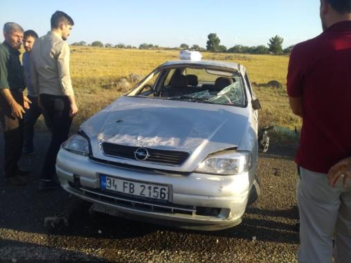 Siverek'te araç takla attı; 1 yaralı
