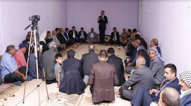 Vali Erin Viranşehir'de Muhtar ve Vatandaşlarla Buluştu