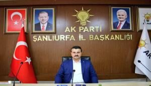 AK Parti Şanlıurfa İl Başkanından Birecik ve Halfeti Açıklaması