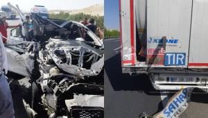 Birecik'te Feci Kaza, 1 Ölü 3 Yaralı