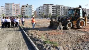 Birecik'te içme suyu arıtma tesisi çalışmaları sürüyor