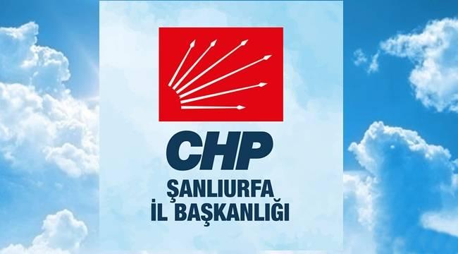 CHP Şanlıurfa İl Başkanlığı Başkanlık İçin Tarafını Seçti