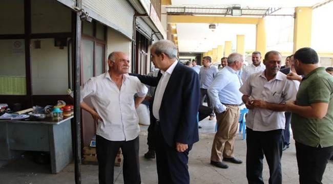 Demirkol, Şıra Pazarı Esnafını Ziyaret Etti