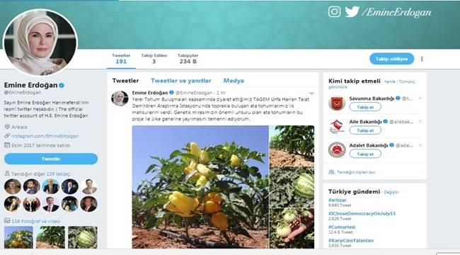 Emine Erdoğan Sosyal Medya Hesabından Paylaştı