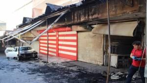 Eyyübiye'de Yangın 3 Dükkan 1 Araç Hasar Meydana Geldi