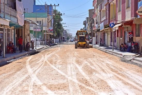 Gazi Caddesi'nde Çalışmalar Hız Kazandı
