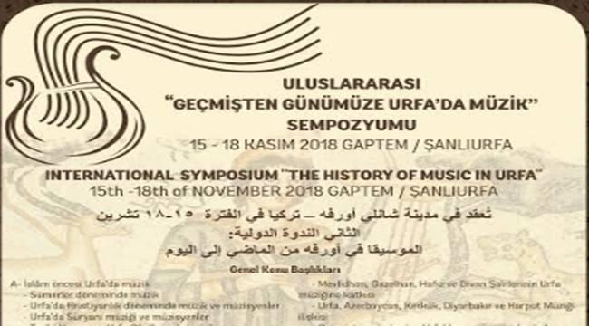 Geçmişten Günümüze Urfa'da Müzik Sempozyumu Düzenlenecek