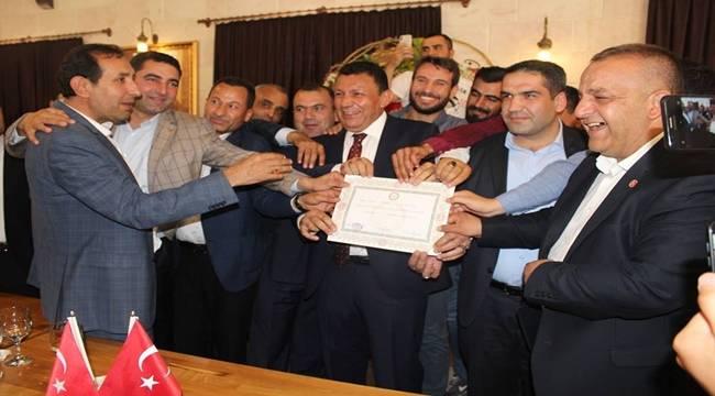 MHP Şanlıurfa Milletvekili Mazbatasını Aldı