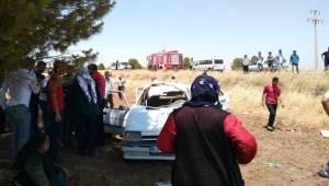 Otomobil Şarampole Devrildi, 4 Yaralı
