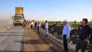 Şanlıurfa'da kırsal yollar karayolları standarlarına getiriliyor