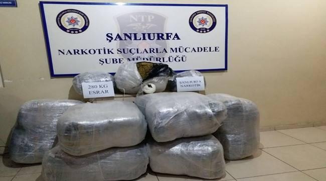 280 Kilo Uyuşturucu Yakalandı