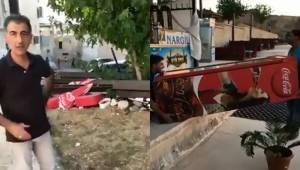 ABD ve İsrail'e Protesto Kola Dolabını Çöpe Attılar