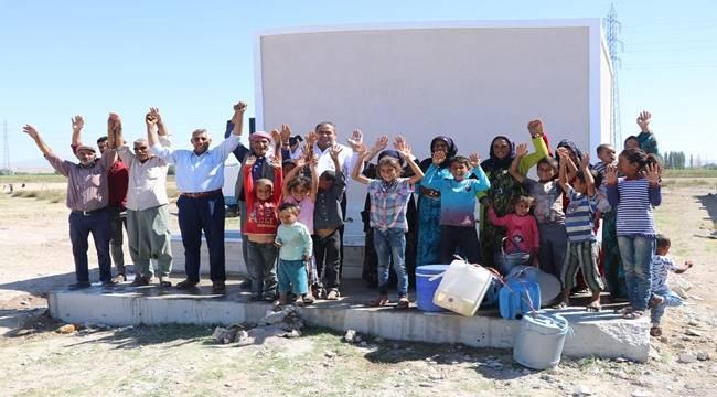 Aksaray'da Urfalı İşçier Suya Kavuştu