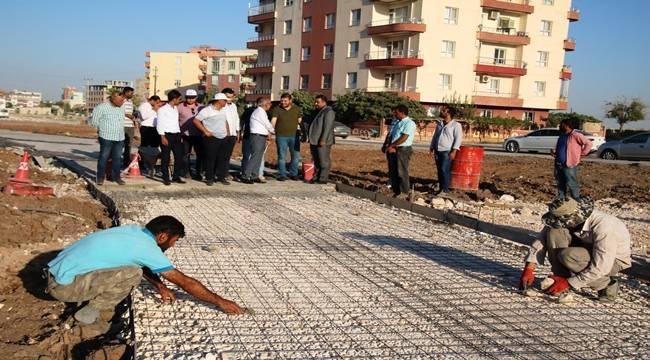 Beton Yol Çalışmalarını İncelediler-Videolu Haber