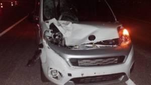 Hafif ticari aracın çarptığı yaya hayatını kaybetti
