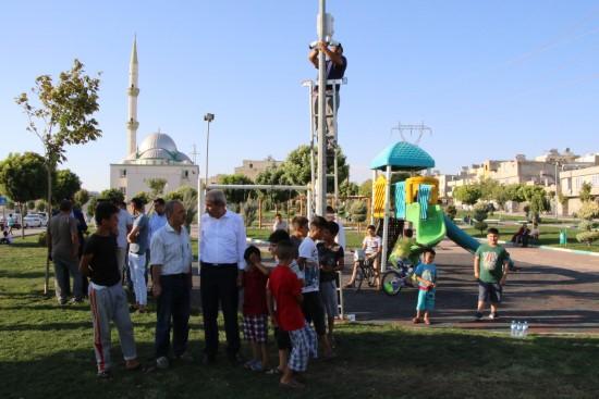 Haliliye'da parklar daha güvenli hale getiriliyor