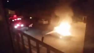 Otomobil Kaza Sonrası Alev Topuna Döndü