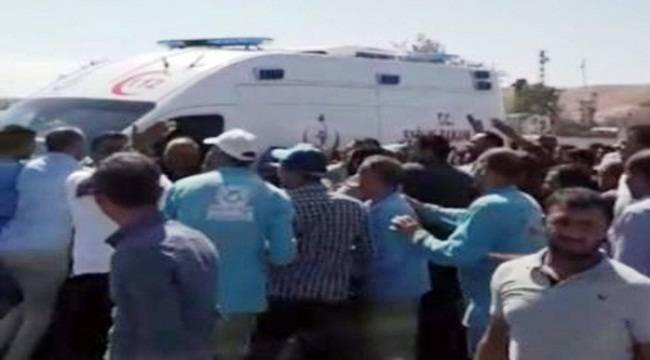 Urfa'da Acil Servis Ekiplerine Saldırı