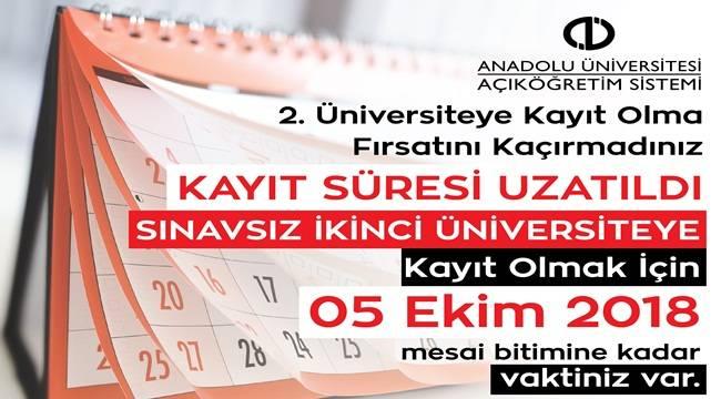 AÖF İkinci Üniversite Kayıt İşlemleri Uzatıldı