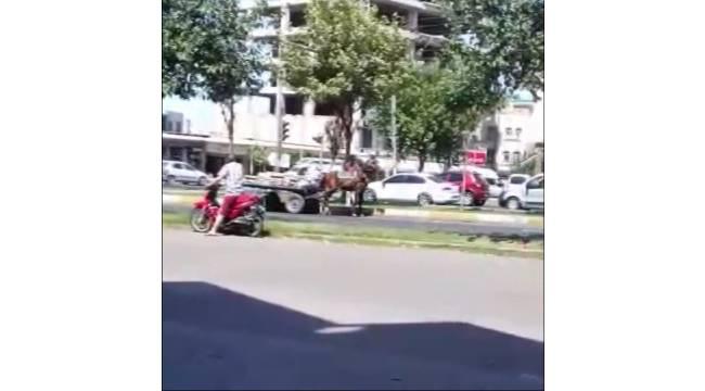 Aşırı Yüklü Arabayı Çekemeyen Atın Hali Görenleri Üzdü