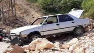Haliliye'de Otomobil Şarampole Uçtu 5 Yaralı