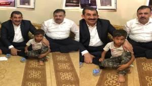 Kum Yığının Altında Kalan Çocuğa Başkan Atilla'dan Ziyaret
