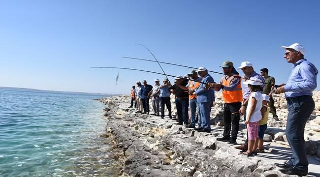 Olta Balıkçıları Hilvan'da Yarıştı